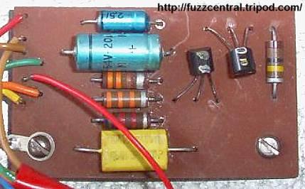 silicon fuzz face circuit board