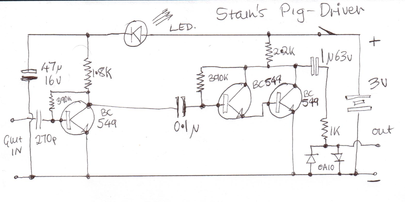 Fuzz Central Pedals For Sale Pignose Strat Wiring Diagram Pig Driver Schematic